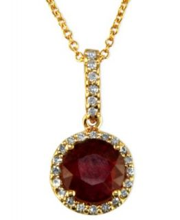 Royalty Inspired by Effy Collection 14k Gold Necklace, Ruby (1 3/8 ct