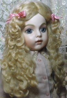 Lovely soft mohair doll wig size 11 12 medium blonde tails wig French