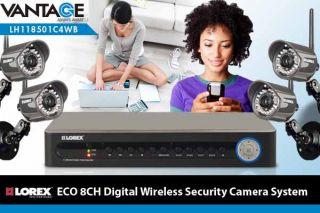 Lorex Eco Security DVR with 2 Digital Wireless Security Cameras