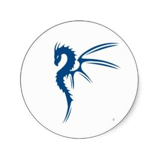 Prothero the Blue Dragon Round Sticker