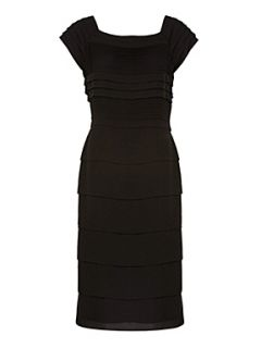 Jacques Vert Black pleated shift dress Black