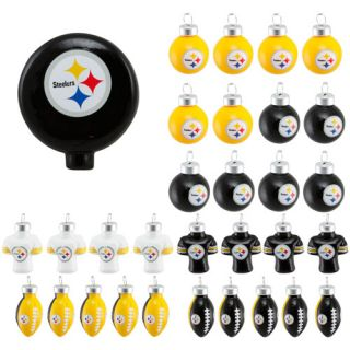 Pittsburgh Steelers 31 Piece Blown Glass Ornament Set