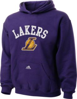 Los Angeles Lakers Youth Purple Arched Logo Fleece Hooded Sweatshirt