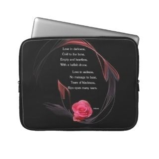 Love in Darkness Laptop Computer Sleeve