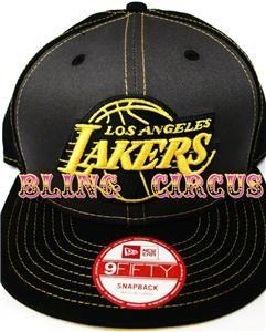 New Era La Los Angeles Lakers Neon Super Stitch Snapback Hat Fast
