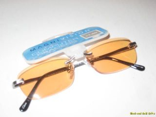 Magnivision Computer Tinted Rimless Eyeglasses Reading Glasses Readers