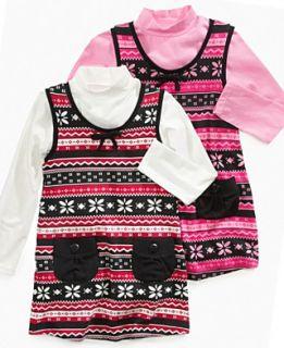 So Jenni Kids Set, Little Girls Fair Isle Sweater Jumper and