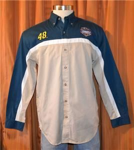 JIMMIE JOHNSON #48 LOWES RACING NASCAR WINNERS CIRCLE GRAY SHIRT MENS