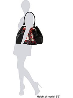 Love Moschino Scarf forever large hobo bag