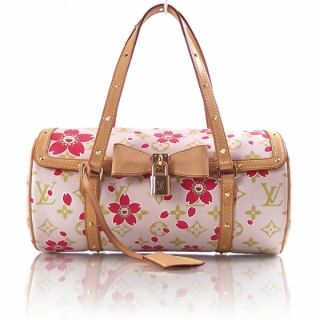 Louis Vuitton Cherry Blossom Papillon Bag Purse Pink LV