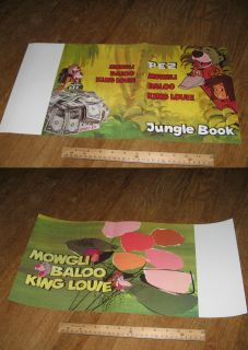 ad sheet JUNGLE BOOK Mowgli Disney 1967 proof copy,Baloo King Louie