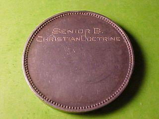 Loyola School New York City Large Silver Medal 1900 Scarce