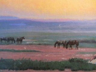 Western Artist Thomas w Lorimer Original Painting