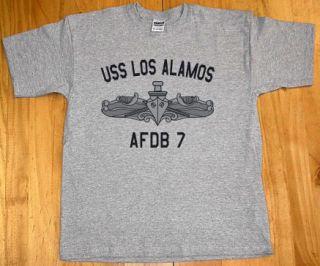 US USN Navy USS Los Alamos Afdb 7 T Shirt