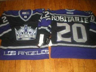 CCM Los Angeles Kings Luc Robitaille Black Jersey Sz Large