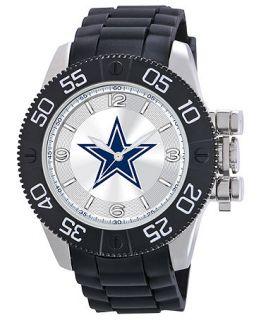 Game Time Watch, Mens Dallas Cowboys Black Polyurethane Strap 47mm