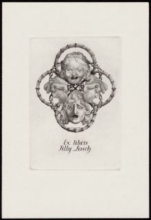 Bookplate for Famous Hollywood Actress Tilly Losch 1930