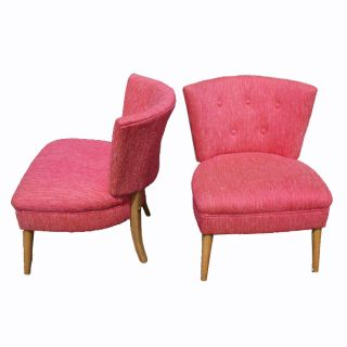 Vintage Slipper Lounge Chairs Set Heywood Style
