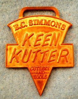 Original Keen Kutter Watch Fob E C Simmons Copper St Louis MO