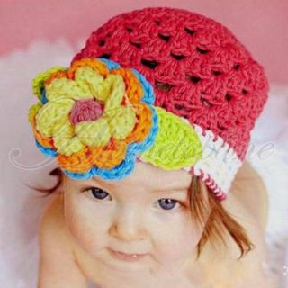 Lovely Infant Cotton Crochet Toddler Hat Cute Boys Girls Photography