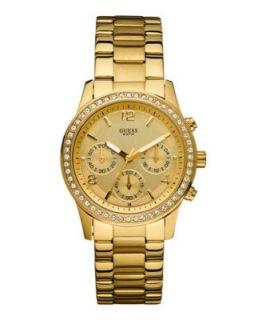 GUESS Watch, Womens Gold Tone Stainless Steel Bracelet 49mm U12631L1