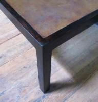 Harry Lunstead Bronze Oak Coffee Table Mid Century Mod