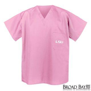LSU Tigers Logo Pink Scrub Top Shirt XL Gifts Idea LSU Ladies Apparel