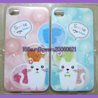 2pcs Sweet Cute Lover Couple Valentine Hard Case Cover for iPhone 4 4G