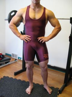 Mens Team issued Spandex Nylon Lycra Wrestling Singlet Grapple