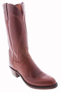 Lucchese Tan N9236 R4 Nappa Mens Cowboy Boots EE