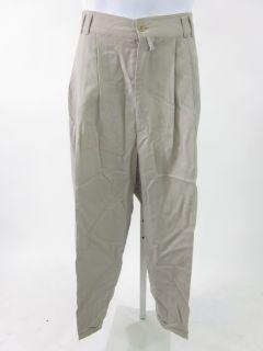 Luciano Soprani Mens Beige Wool Dress Slacks Pants 50