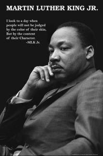 Martin Luther King Jr. Character Civil Rights Quote Poster Print