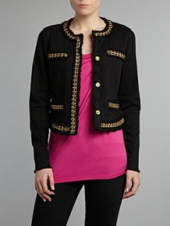 Michael Michael Kors Long sleeved jacket with chain detail Black