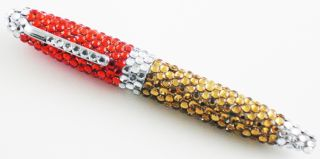 Eastern Star Colors Rhinestone Covered Ink Pen