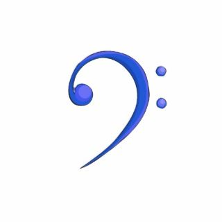 Bass Clef Casual Style Blue note design Photo Sculpture