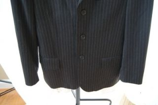 Crew Dark Gray Ludlow Pinstripped Mens Suit Size 38S