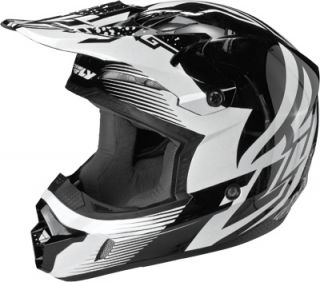 2013 Fly Racing Kinetic Inversion Adult Helmet Black White SM XXL