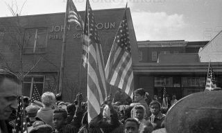 Negs Flag Ceremony for Dr. Martin Luther King Jr, Chicago IL 1968  6
