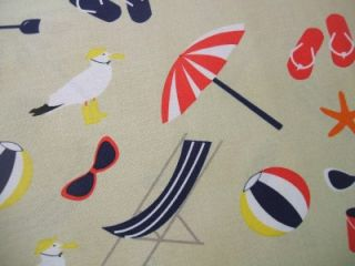 Its A Shore Thing Jack and Lulu Beach Ocean Cotton Fabric Yard