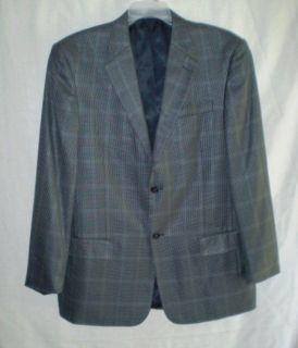 LYLE & SCOTT Gray Houndstooth Silk Sport Coat Blazer Jacket 42R 42 R