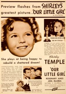 Our Little Girl Rosemary Ames Joel McCrea Lyle Talbot Fox