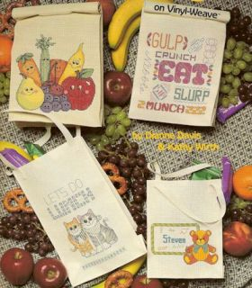 Lunch Tote Bags Counted Cross Stitch Pattern Booklet Free SHIP