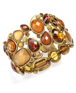 Jody Coyote Sterling Silver Earrings, Gold Patina Open Circle Earrings
