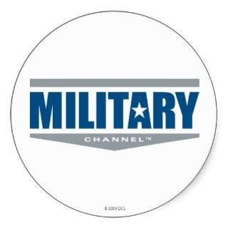 Military Channel Logo Sticker
