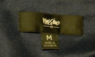 New Mossimo Size M Blue Chiffon Maxi Dress Elastic Shirred Waist Lined