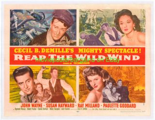 Reap The Wild Wind Movie Poster R1954 H Sht John Wayne