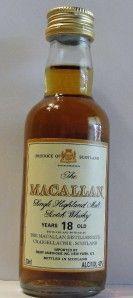 Miniature The Macallan Scotch Whisky Bottle 18