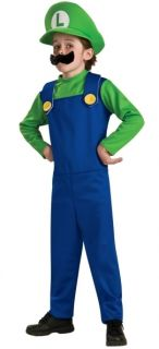 Luigi Child Costume Small s 4 6 Super Mario Bros Green Nintendo New