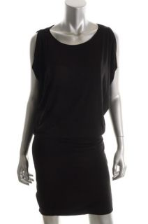 Michael Kors New Black Stretch Sleeveless Blouson Clubwear Dress M