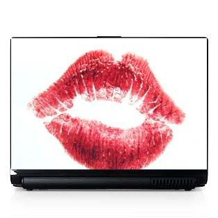 Laptop Computer Skin Fits PC or Mac Red Lips Kiss 059